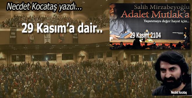 Necdet Kocataş yazdı; Haliç intibâları... 29 Kasım'a dair...
