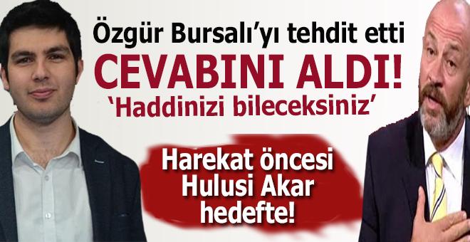 Özgür Bursalı'nın tehdite cevabı sert oldu!