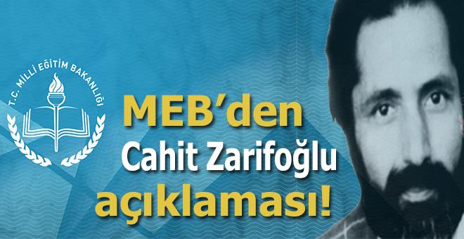 Milli Eğitim Bakanlığı'ndan Cahit Zarifoğlu açıklaması!