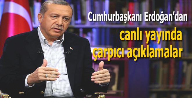 Başkan Erdoğan'dan gündemdeki konularla ilgili çarpıcı açıklamalar!