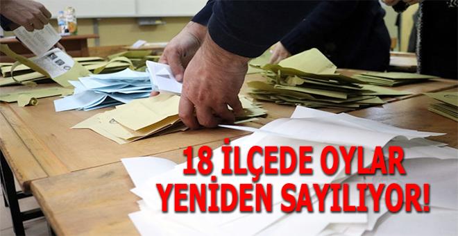 Tezgah bozuldu; İstanbul'da 18 ilçede oylar sayılıyor!