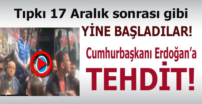 Cumhurbaşkanı Erdoğan'ı tehdit etti!