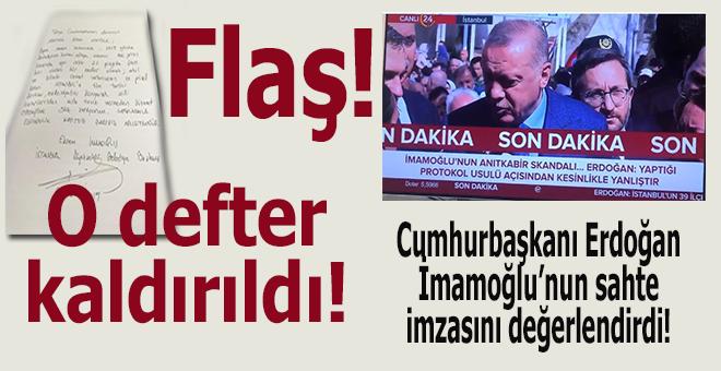 """İmamoğlu'nun Anıtkabir'de """"korsan imza""""sının olduğu defter kaldırıldı!"""
