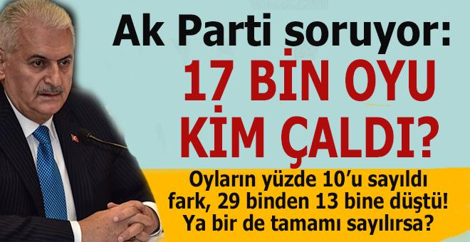 Ak Partili vatandaş soruyor; Bu 17 bin oyu kim çaldı?