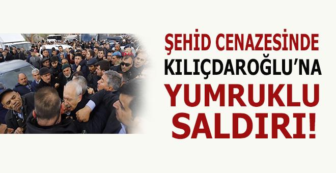 Şehid cenazesinde Kılıçdaroğlu'nu yumruklu saldırı!