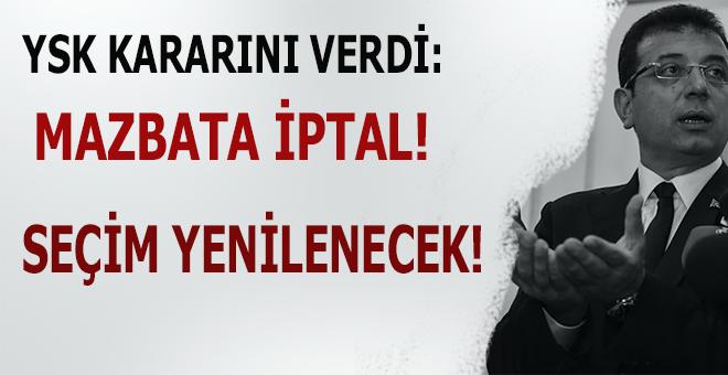 YSK kararını verdi; İstanbul seçimleri yenilenecek!