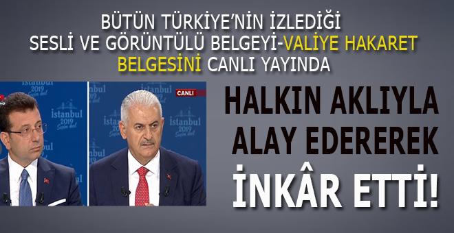 Türkiye'nin izlediği görüntüleri canlı yayında yine inkâr etti!