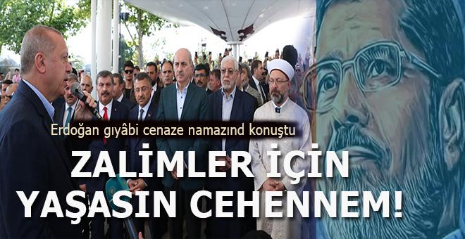Fatih Camii'nde Şehid Muhammed Mursi için gıyabi cenaze namazı!