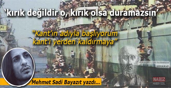 """Mehmet Sadi Bayazıt yazdı; """"kırık değildir o, kırık olsa duramazsın..."""""""