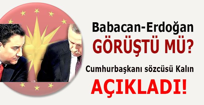 Ali Babacan ile Cumhurbaşkanı Erdoğan görüştü mü? Külliye'den açıklama!