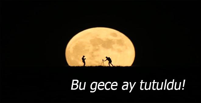 Bu gece kısmî ay tutulması var ve tüm Türkiye'den izlenebiliyor!