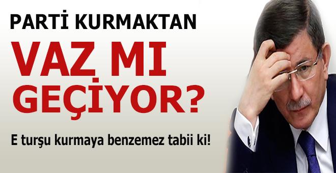 """""""Davutoğlu yeni parti kurmaktan vazgeçebilir"""""""