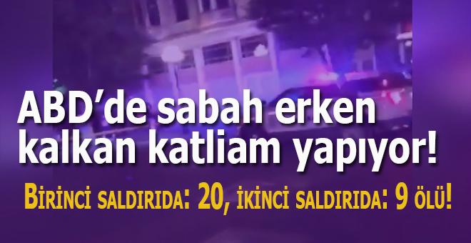 """ABD'de """"sabah erken kalkan"""" katliam yapıyor, ikinci saldırıda da 9 kişi öldü!"""