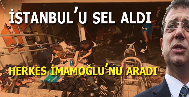 İstanbul'u sel aldı; İmamoğlu Bodrum tatilini bozmadı!