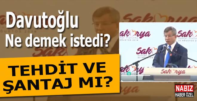 Ahmet Davutoğlu ne demek istedi?