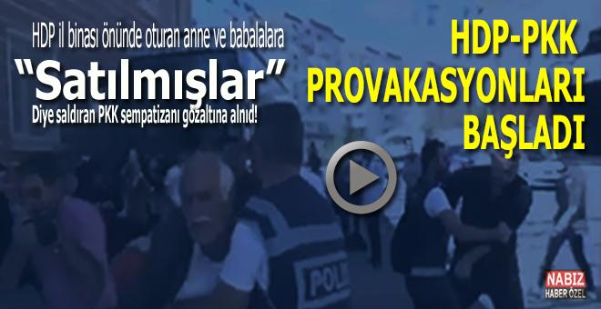 """HDP-PKK provakasyona başladı; Ailelere """"satılmışlar"""" diye saldıran PKK sempatizanı gözaltına alındı!"""