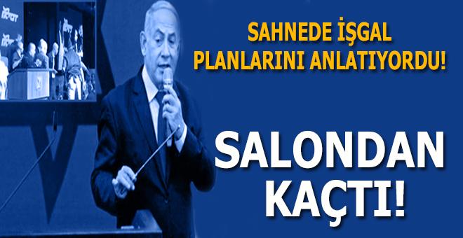 Netanyahu, sahneden sığınağa kaçtı!