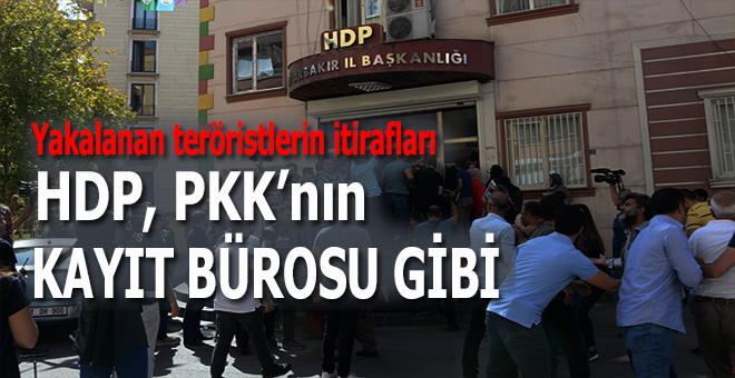 Yakalanan teröristlerin itirafları: HDP, PKK'nın kayıt bürosu gibi çalışmış...