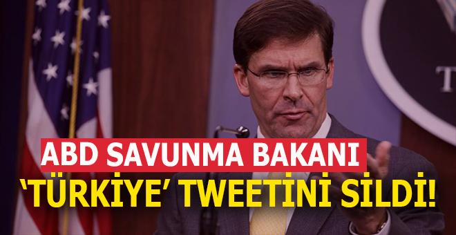 """ABD Savunma Bakanı """"Türkiye tweet""""ini sildi!"""