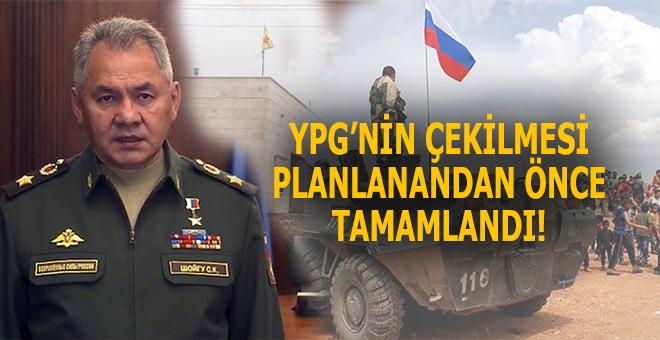 Rusya Savunma Bakanı: YPG'nin çekilmesi tamamlandı!
