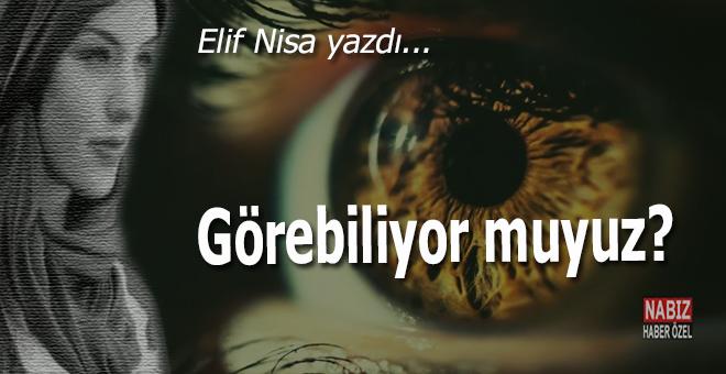 Elif Nisa yazdı; Görebiliyor muyuz?