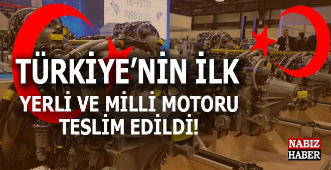 Türkiye'nin ilk yerli ve milli motor teslim edildi!
