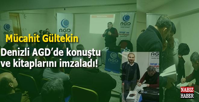 Mücahit Gültekin Denzli AGD'de konuştu ve kitaplarını imzaladı!