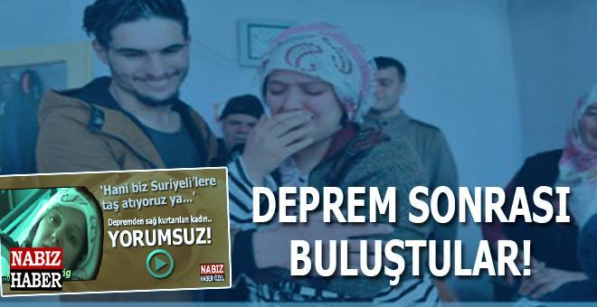 Suriyeli Mahmud ve enkazdan kurtardığı Dürdane Aydın'ın deprem sonrası duygulandıran buluşması!
