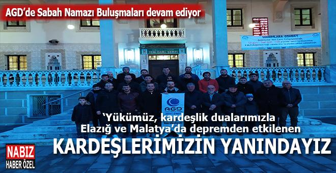 AGD: Yükümüz kardeşlik, Elazığ ve Malatya'da depremden etkilenen kardeşlerimizin yanındayız!