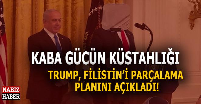 Kaba gücün küstahlığı; Trump Filistin'i parçalama planı'nı açıkladı!