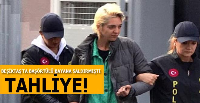 Beşiktaş'ta başörtülü kadına saldıran saldırgan tahliye edildi!