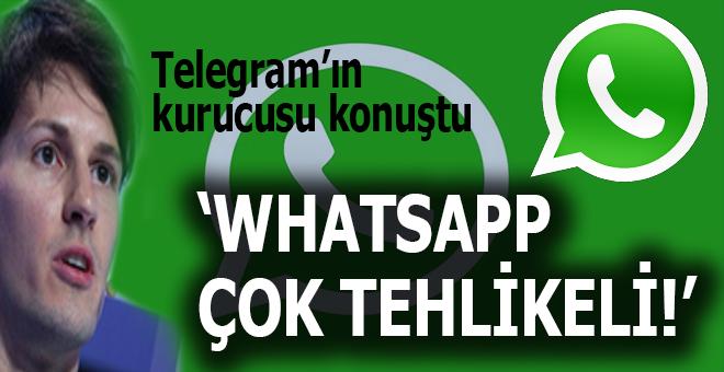 """Telegram'ın kurucusu: """"Whatsap çok tehlikeli..."""""""