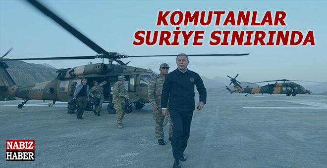 Karagahta yapılan toplantı sonrası, komutanlar Suriye sınırında!