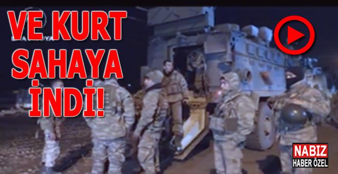 """Ve """"Kurt"""" sahaya indi; İdlib'de gözlem noktalarına komando takviyesi!"""
