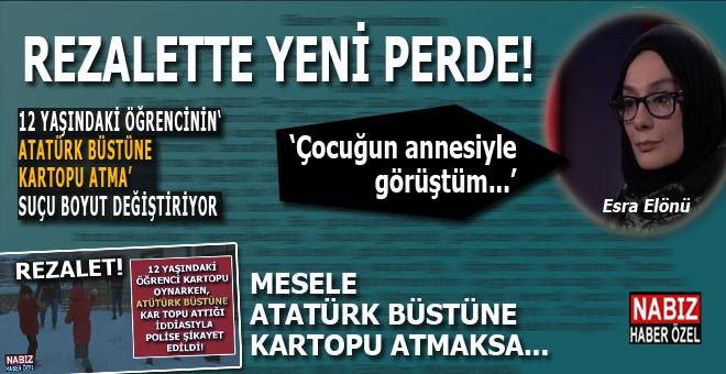 """""""Atatürk büstüne kartopu atma"""" suçunda(!) yeni perde; olay boyut değiştiriyor!"""