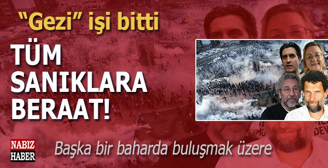 """""""Gezi"""" davasında tüm sanıklar hakkında beraat kararı!"""