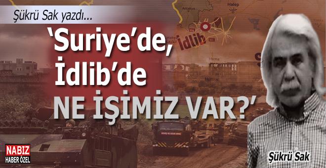 """Şükrü Sak yazdı; """"Suriye'de, İdlib'de ne işimiz var?"""""""