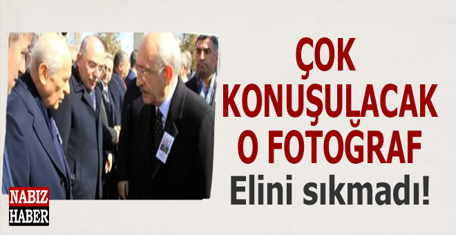 Çok konuşulacak o fotoğraf; Bahçeli, Kılıçdaroğlu'nun elini sıkmadı!
