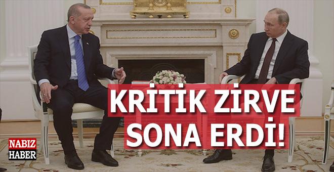 Erdoğan-Putin arasındaki kritik zirve sona erdi!