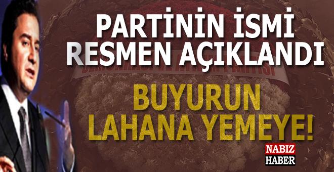 Ali Babacan'ın partisinin ismi resmen açıklandı!