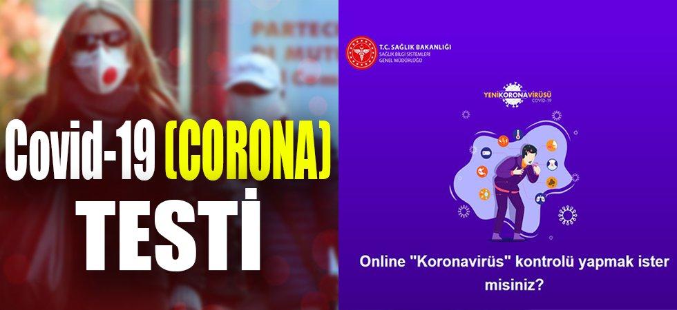 Sağlık Bakanlığından online korona testi!