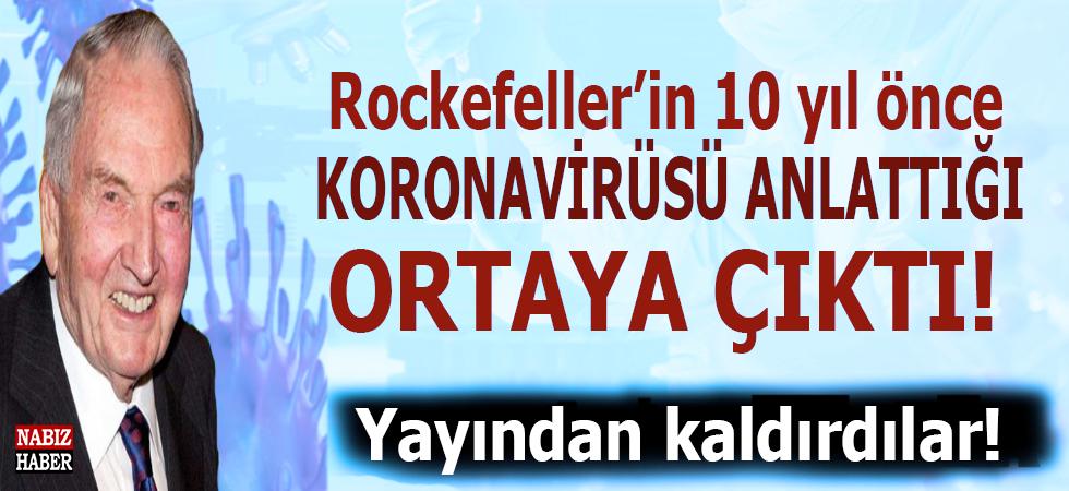 Rockefeller'in 10 yıl önce yayınladığı bir raporda koronavirüs salgınını birebir anlattığı ortaya çıktı!