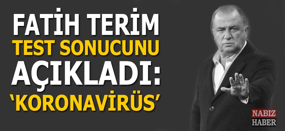 Fatih Terim test sonucunu sosyal medya hesabından açıkladı; Pozitif