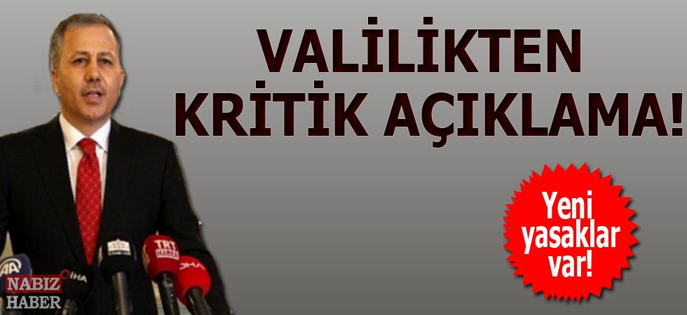 İstanbul Valiliği Açıkladı!...