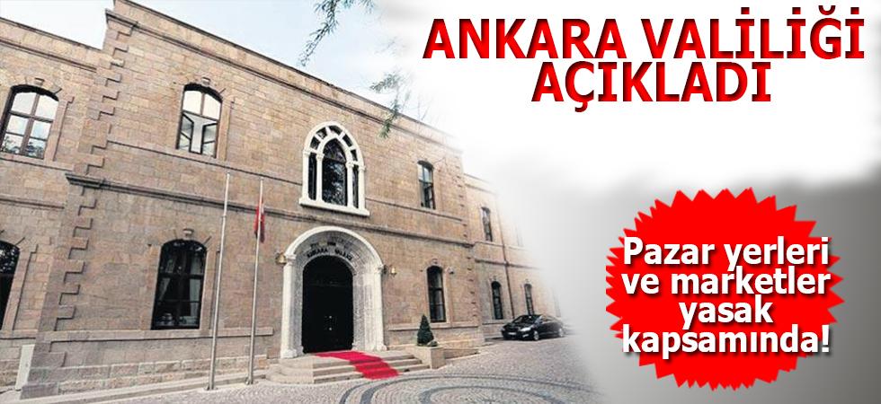 Ankara Valiliği Açıkladı!