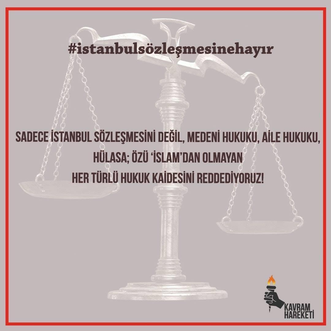 İstanbul Sözleşmesine Hayır!