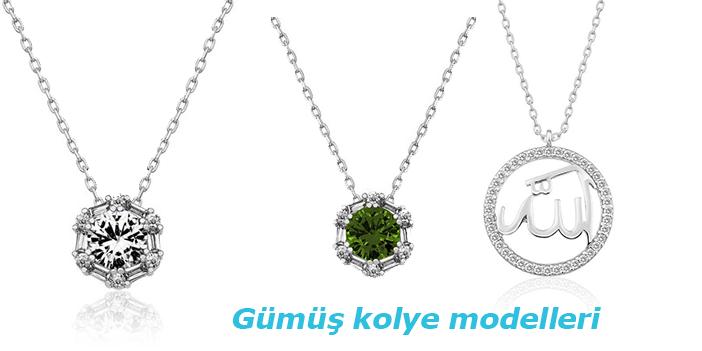 Gümüş kolye modelleri...