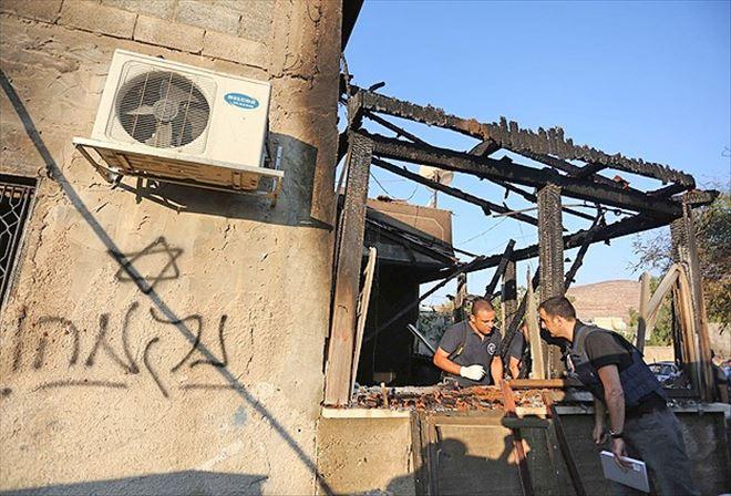 Bebek katili Siyonistler evlerini ateşe verdi; bir bebek yanarak öldü!