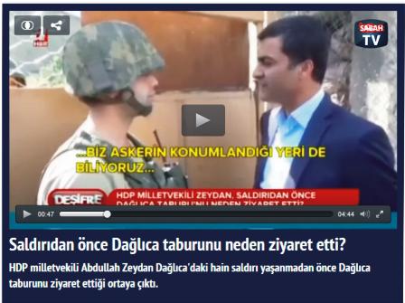HDP'li Zeydan saldırıdan önce Dağlıca taburuna niçin gitti?
