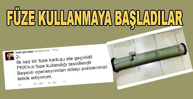 'PKK ilk kez füze kullandı'